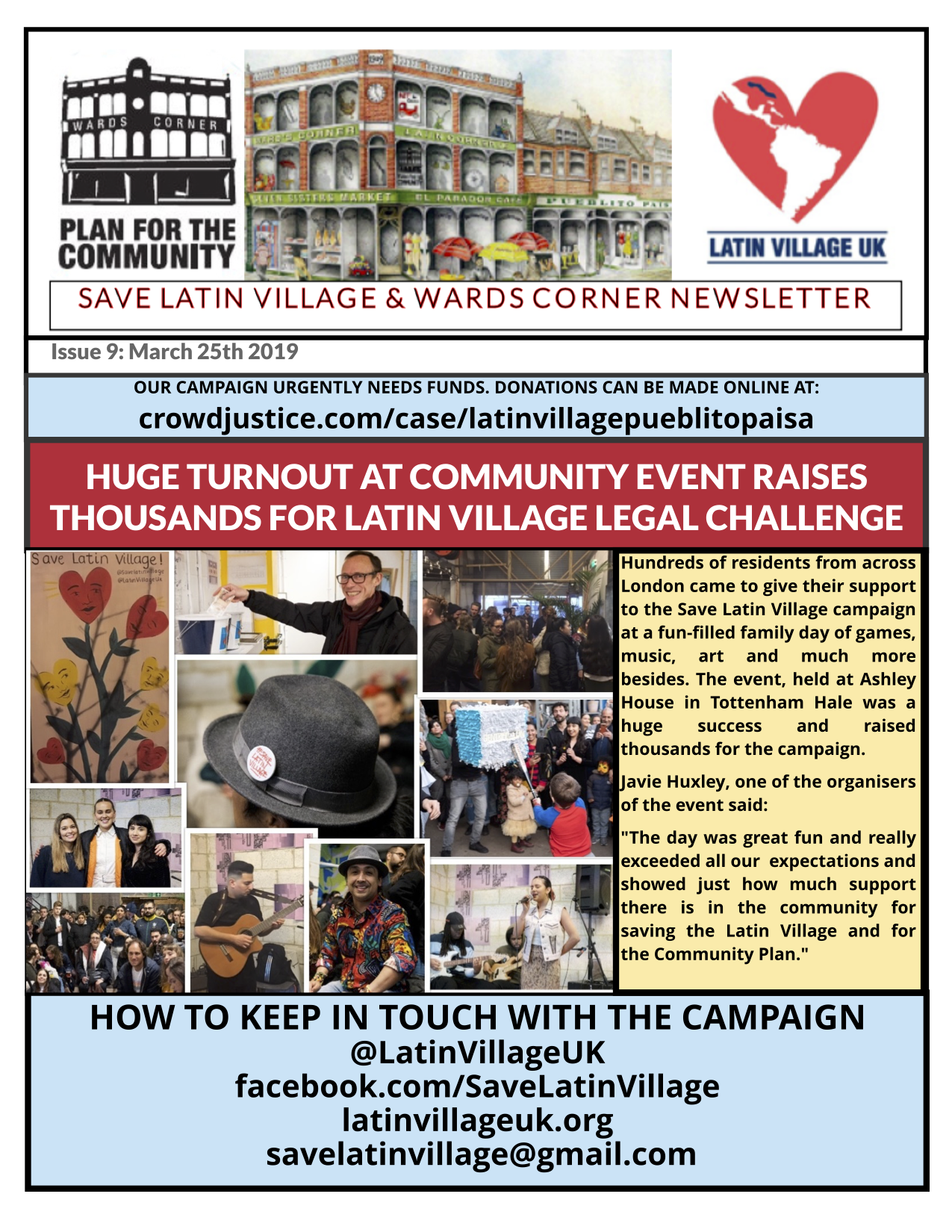 Huge Turnout at Save Latin Village Event 23/3/19